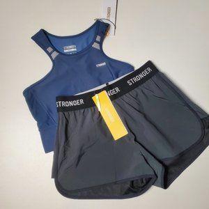 Stronger 2 Piece Set - Bra & Shorts, Small